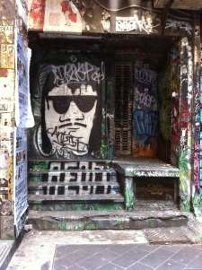 Melbourne is very much an art city, and it's also known for it's eclectic laneways---this picture marries the two!