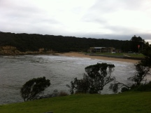 Breakfast with a view of Port Campbell Bay
