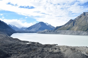 Tasman Glacier Lake, top of Blue Lakes hike, Mt. Cook