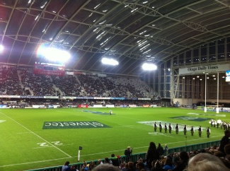 First ever live rugby game! Dunedin Highlanders