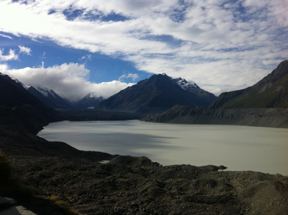 Overlooking Tasman Lake