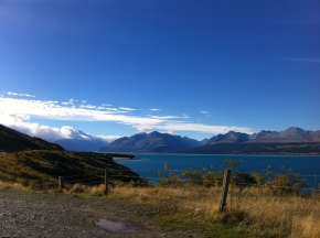 Alongside Lake Pukaki